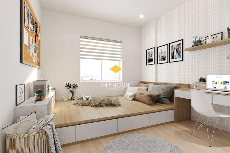 Mẫu thiết kế nội thất chung cư 75m2 - phòng ngủ 2