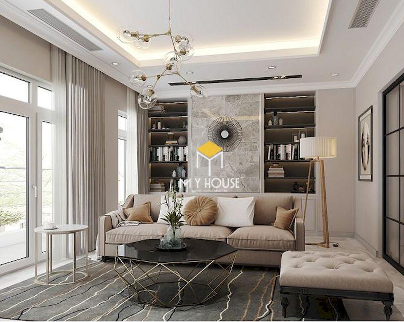 Mẫu thiết kế nội thất chung cư 75m2 tân cổ điển