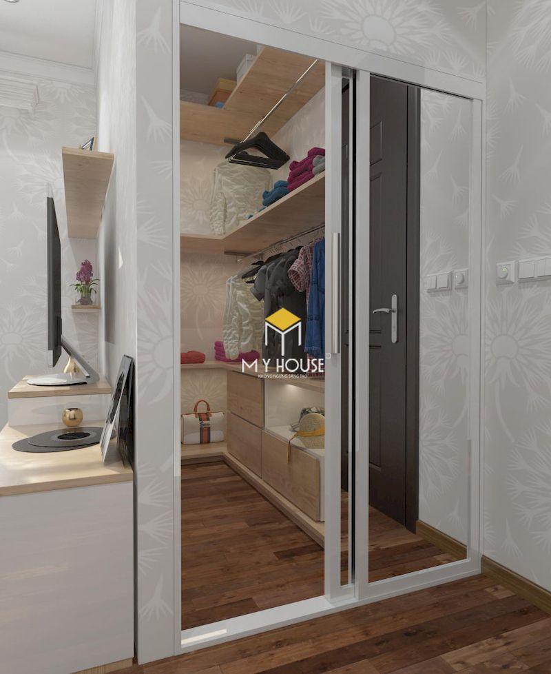 Thiết kế phòng thay đồ mini tận dụng các góc hẹp
