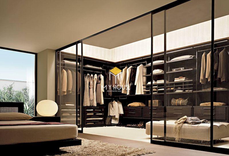 Thiết kế phòng thay đồ mini trong phòng ngủ master