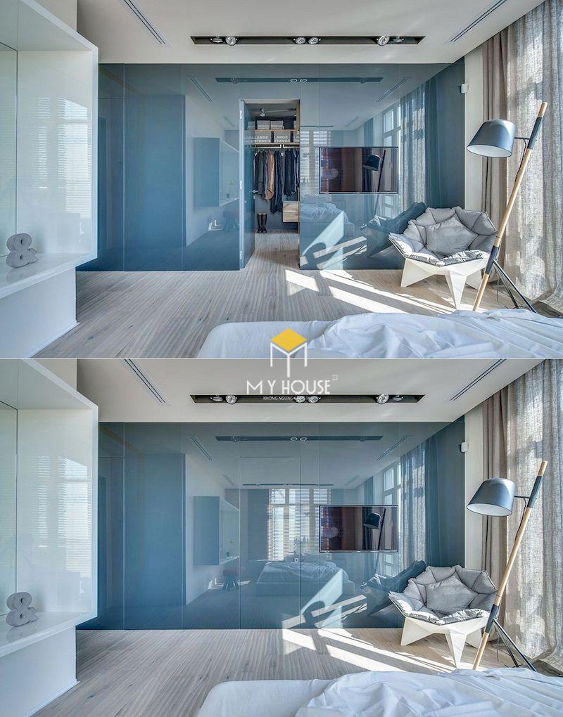 Thiết kế phòng thay đồ mini bên cạnh phòng tắm