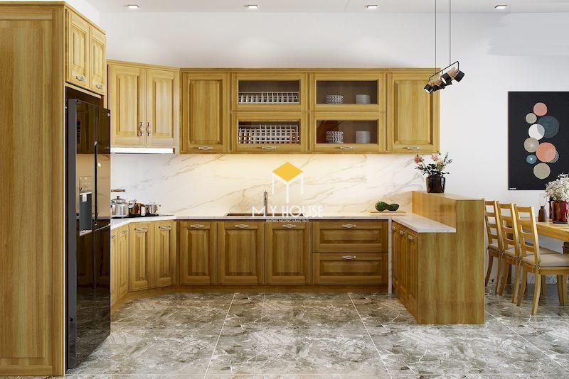Tủ bếp gỗ tự nhiên có khả năng chống mối mọt, côn trùng
