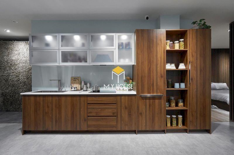 Tủ bếp gỗ tự nhiên có tính thẩm mỹ cao