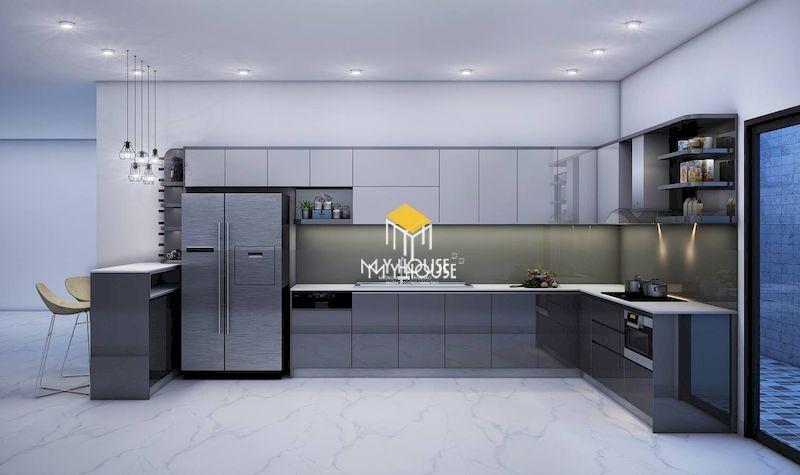 Mẫu tủ bếp chữ L cho mọi không gian nội thất
