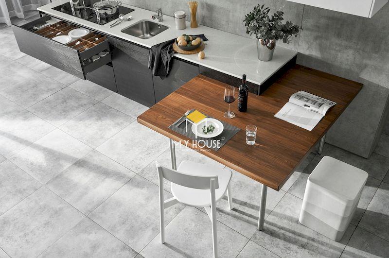 Nội thất phòng bếp phủ laminate