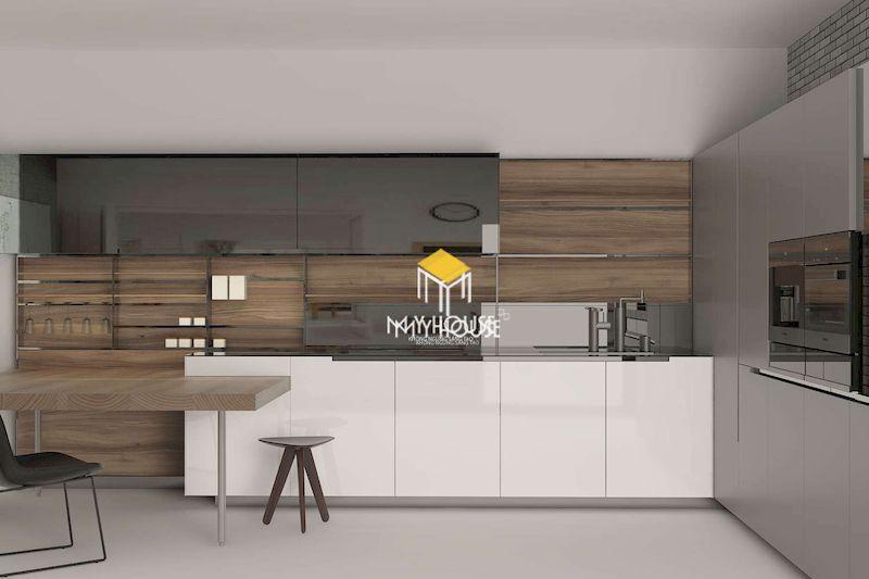 Mẫu tủ bếp hiện đại cho các căn bếp rộng, thoáng
