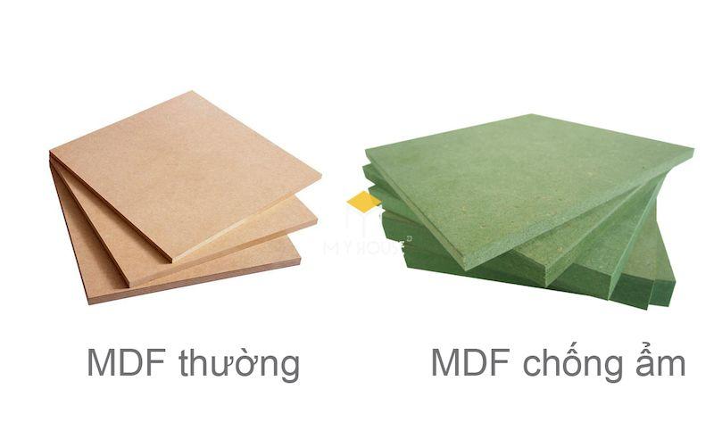 Chất liệu gỗ công nghiệp MDF