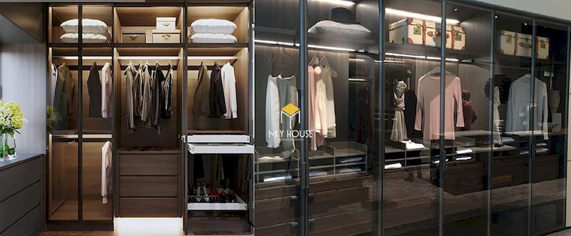 Mẫu tủ quần áo cánh kính cho phòng ngủ hiện đại của biệt thự, nhà phố chung cư cao cấp