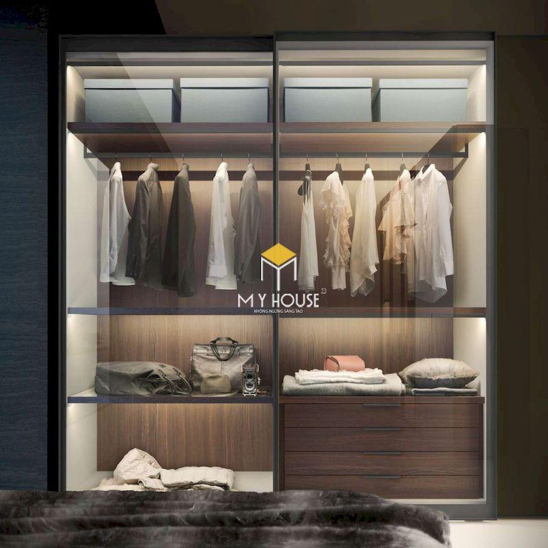 Thiết kế tủ âm tường tiết kiệm diện tích, làm gọn gàng không gian phòng ngủ
