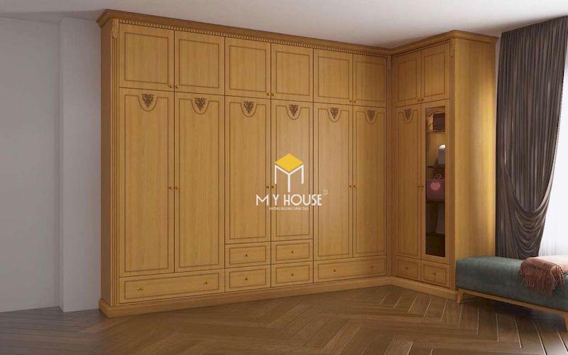 Tủ quần áo gỗ sồi kịch trần