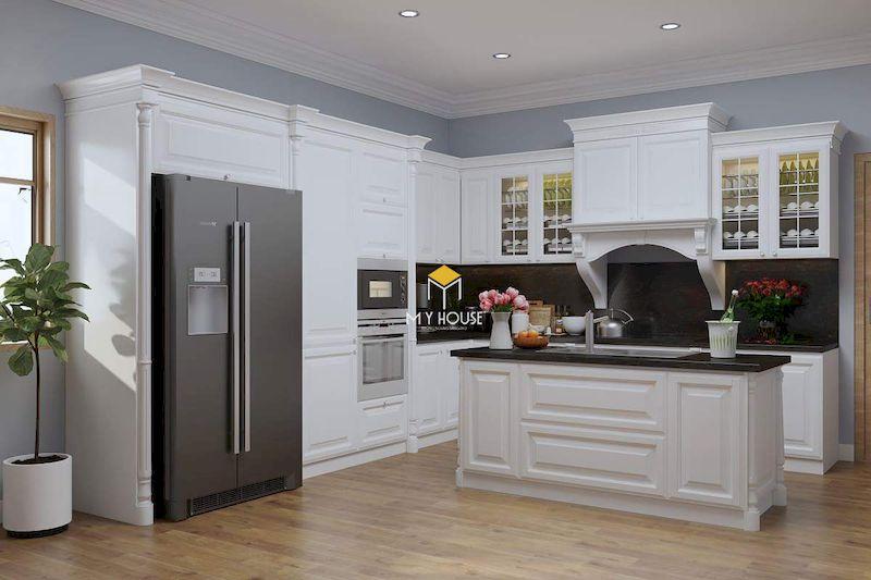 Thiết kế nội thất phòng bếp tân cổ điển sang trọng