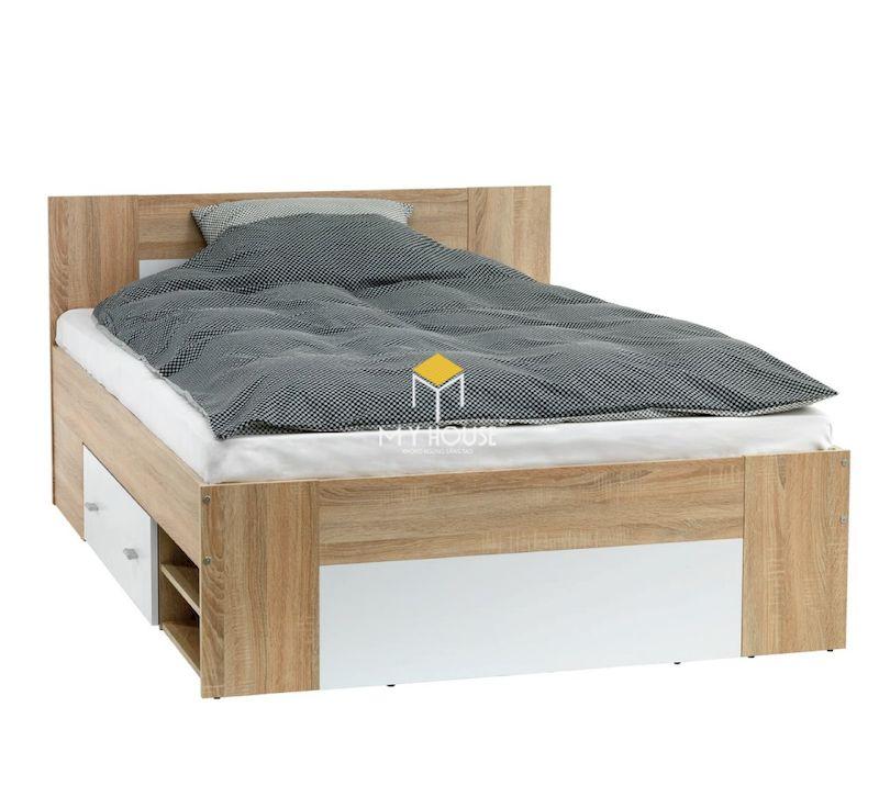 Thiết kế giường ngủ đơn gỗ công nghiệp 1m x 1.9m