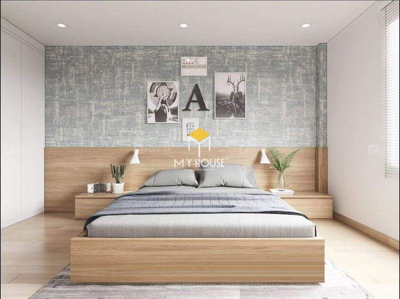 Mẫu giường gỗ công nghiệp 1.6m