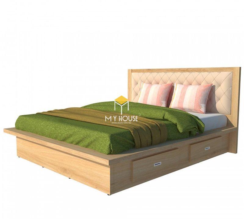 Mẫu giường gỗ công nghiệp thiết kế đa năng