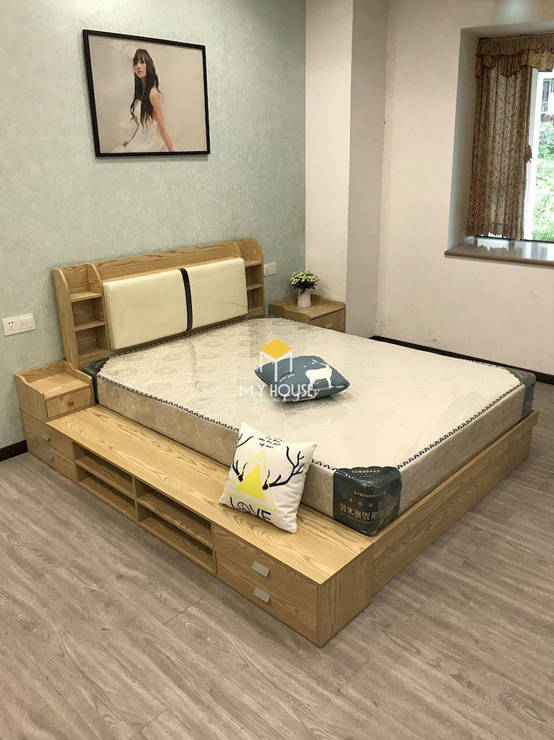 Mẫu giường gỗ công nghiệp đẹp