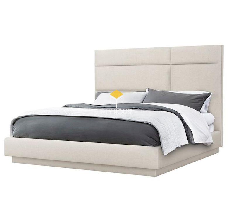Mẫu giường ngủ bọc nệm thấp