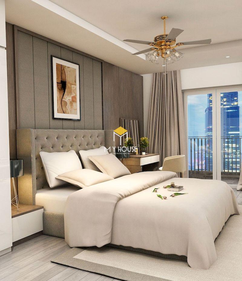 Giường ngủ bọc nệm mang đến vẻ đẹp sang trọng cho không gian phòng ngủ