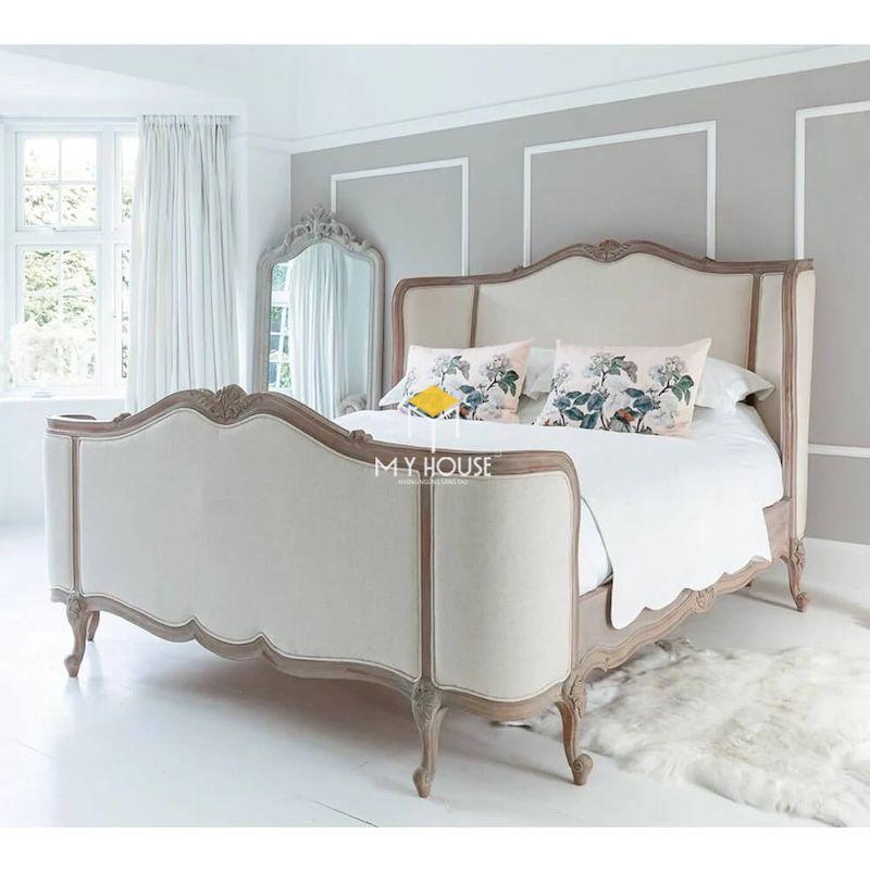 giường ngủ bọc nệm tân cổ điển