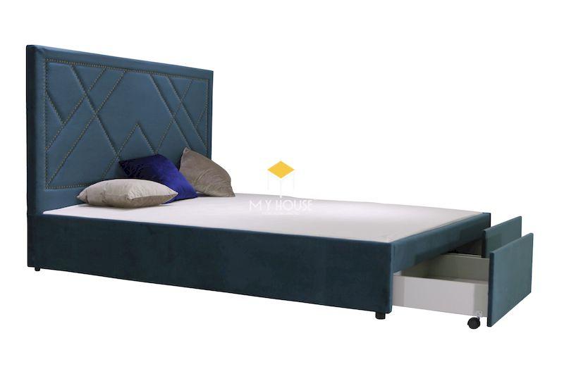 giường ngủ bọc nệm kết hợp ngăn kéo đa năng