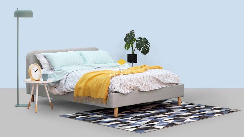 Giường ngủ bọc nệm mang đến cảm giác thoải mái