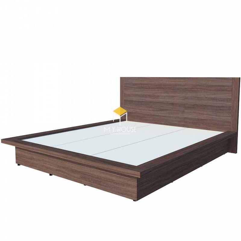 Mẫu giường ngủ kiểu Nhật gỗ công nghiệp phủ melamine