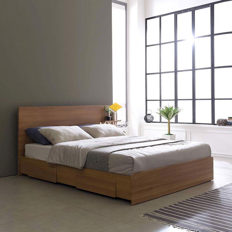 giường ngủ kiểu Nhật thiết kế đa năng, tiết kiệm diện tích