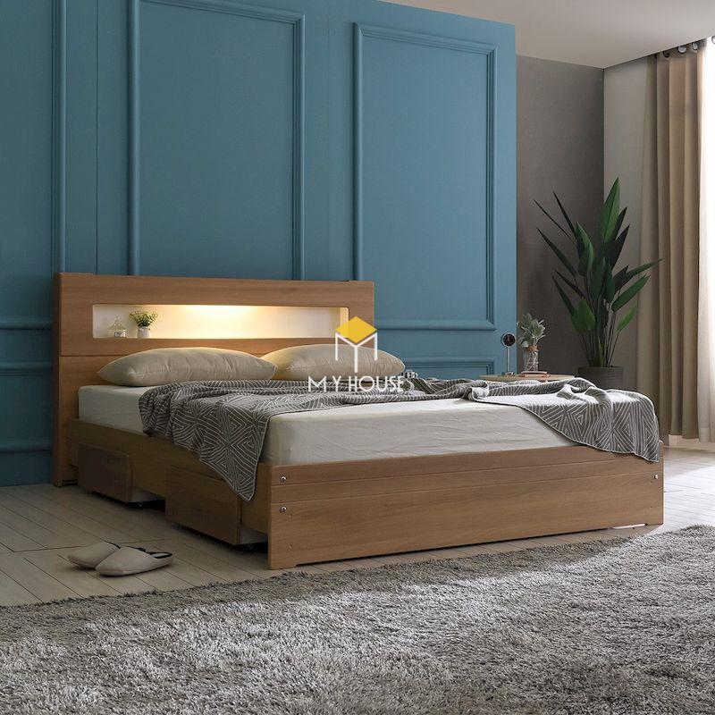 giường ngủ kiểu Nhật thiết kế đa năng với các ngăn kéo đựng đồ