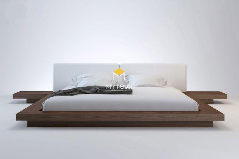 giường ngủ gỗ óc chó kiểu Nhật