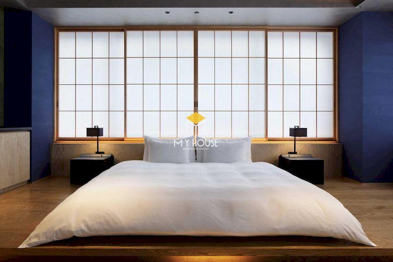 thiết kế phòng ngủ kiểu Nhật tối giản