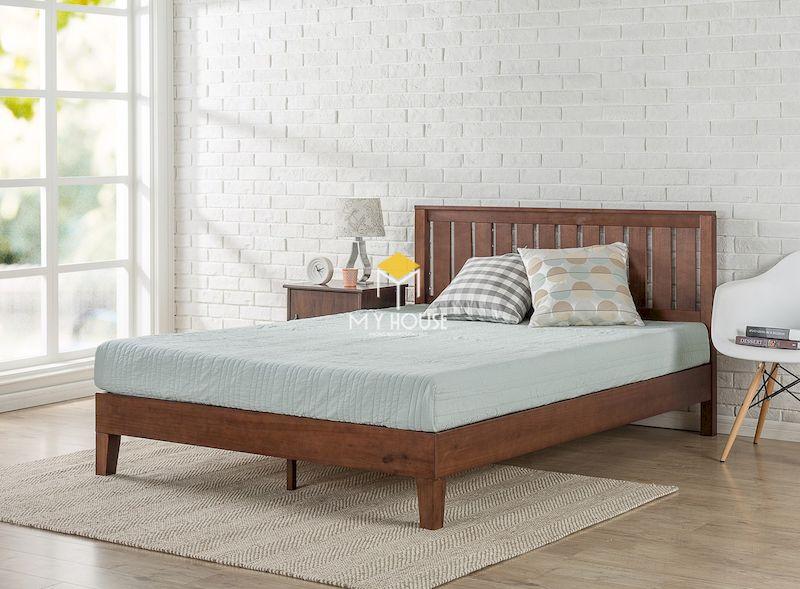 Mẫu giường ngủ 4 chân cao cho phòng ngủ hiện đại
