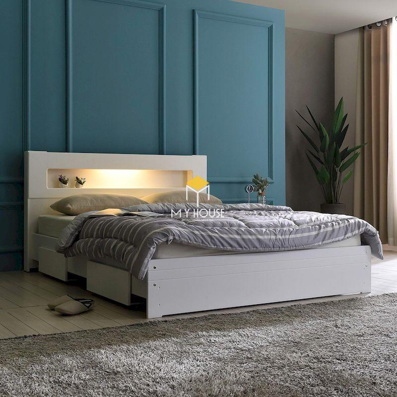 giường ngủ màu trắng cho nội thất phòng ngủ