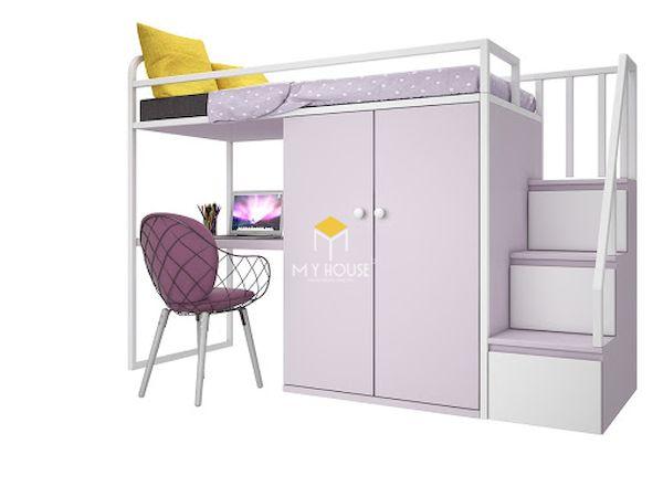 Mẫu giường tầng kêt hợp bàn học, tủ quần áo