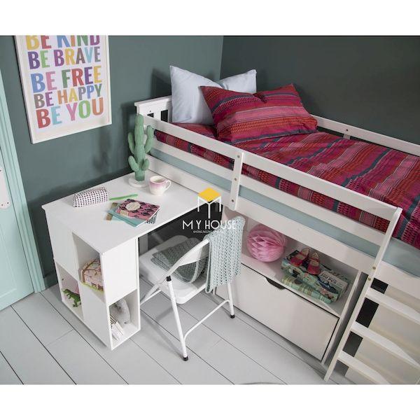 Mẫu giường tầng tích hợp bàn học tiết kiệm diện tích