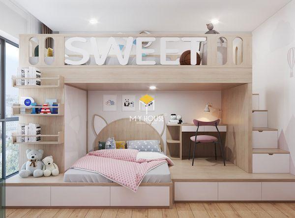 Giường tầng kết hợp bàn học cho trẻ em
