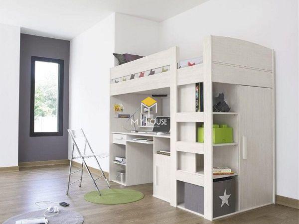 Giường tầng kết hợp bàn học 3