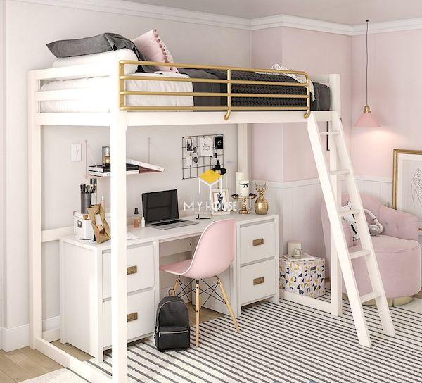 Vì sao nên lựa chọn giường tầng kết hợp bàn học?