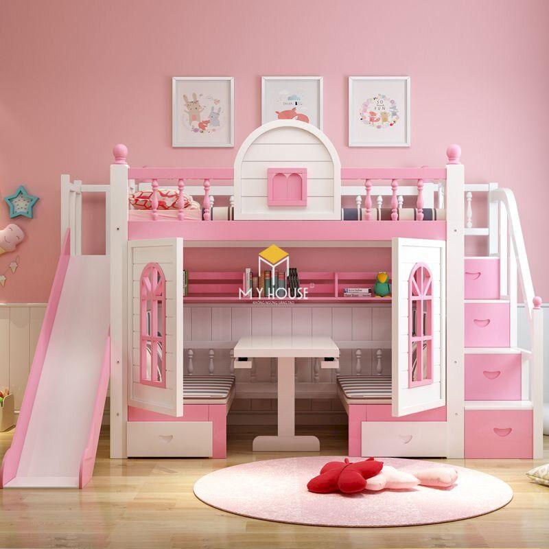 Vì sao nên sử dụng giường tầng màu hồng cho bé?