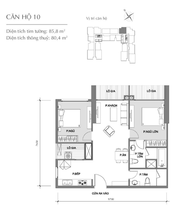 Mặt bằng chung cư - căn hộ 7