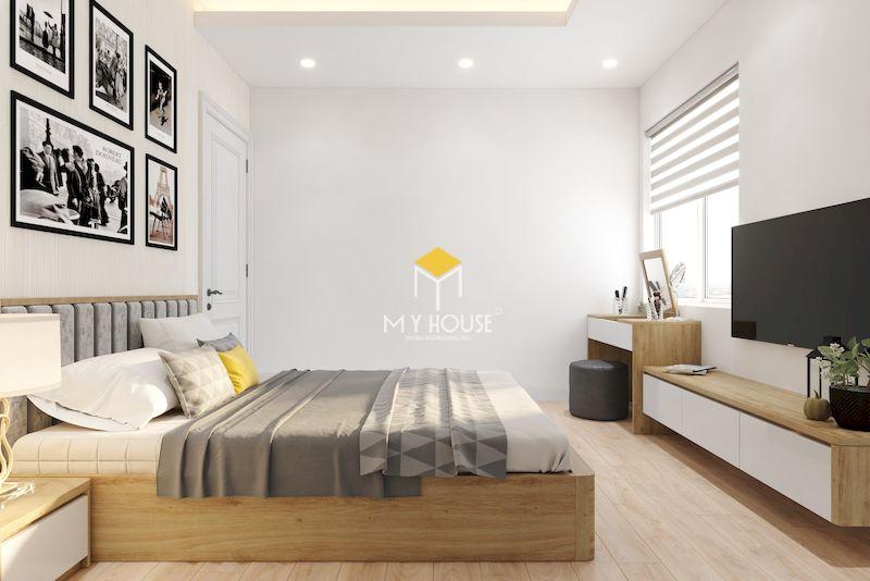 Thiết kế nội thất chung cư 2 ngủ - phòng ngủ 01