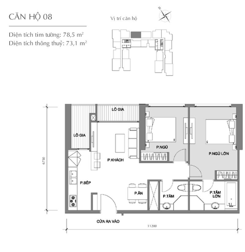 Mặt bằng chung cư - căn hộ 4