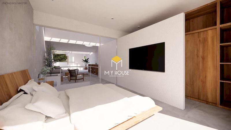 Phòng ngủ master 40m2 phong cách hiện đại