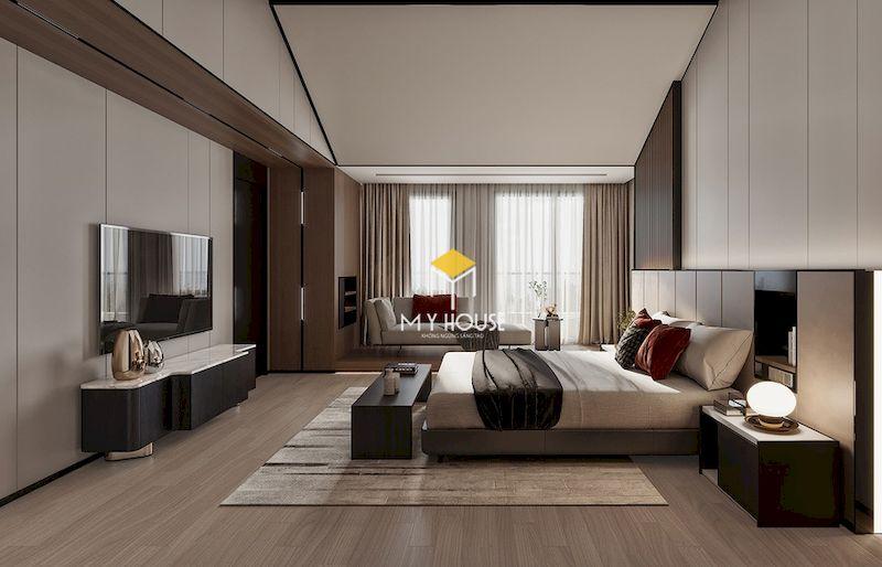 Mẫu phòng ngủ master hiện đại 40m2
