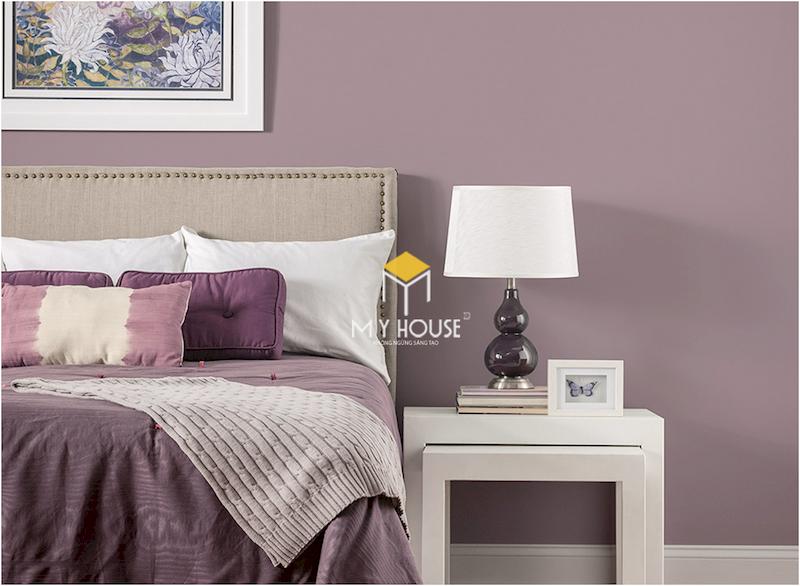 Cách kết hợp màu sắc trong phòng ngủ màu tím