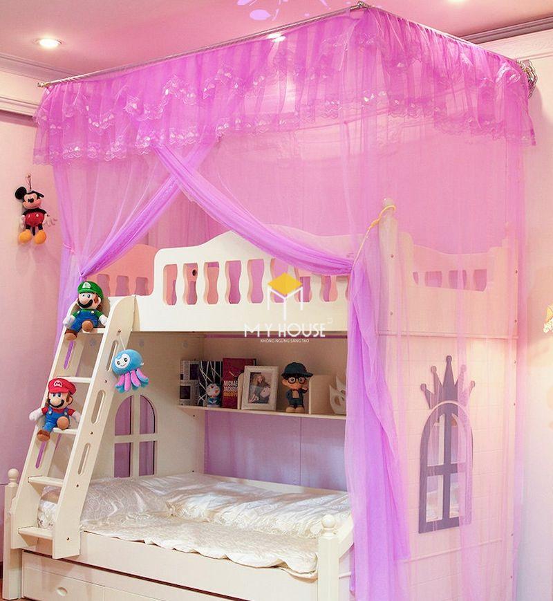 Phòng ngủ màu tím cho bé gái