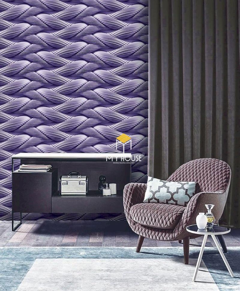 Trang trí nội thất phòng ngủ màu tím đẹp và sang trọng