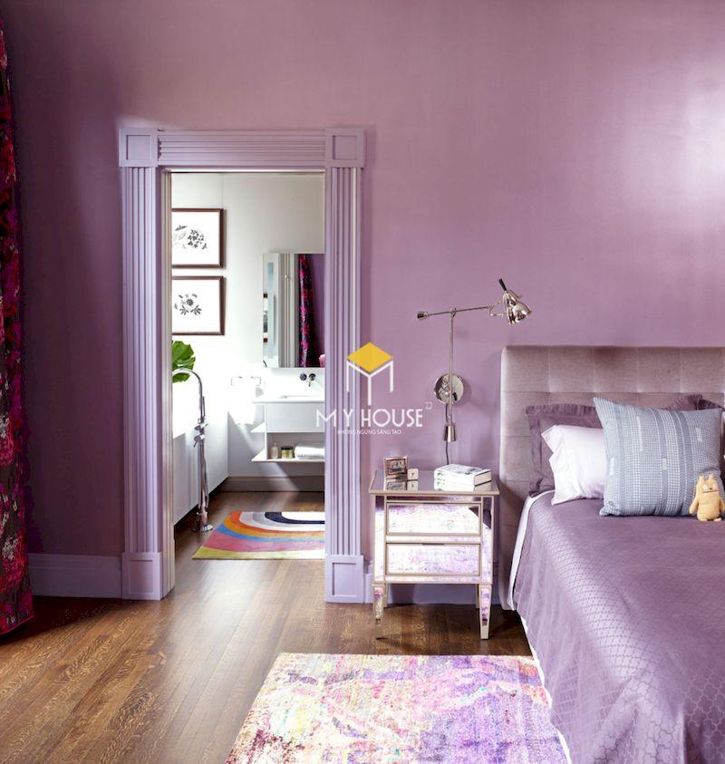 Sơn phòng ngủ màu tím hồng