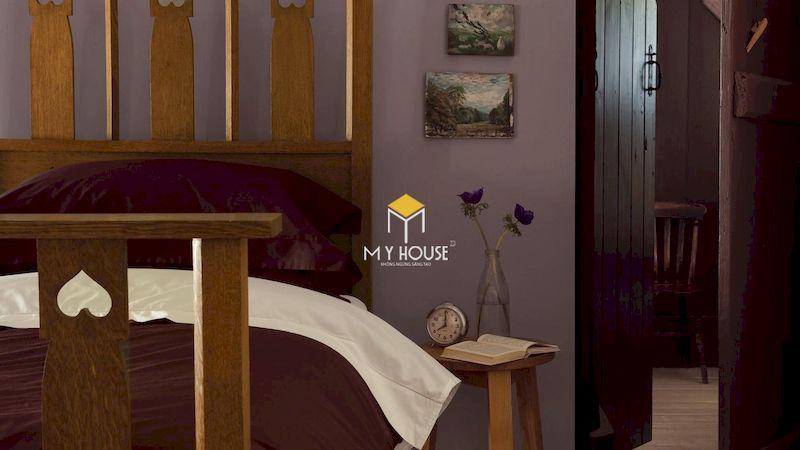 Những mẫu phòng ngủ màu tím