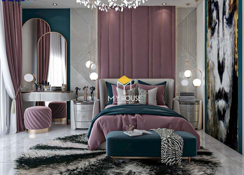 Phòng ngủ màu tím cho người lớn