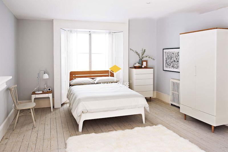 Nội thất phòng ngủ màu trắng phong cách hiện đại
