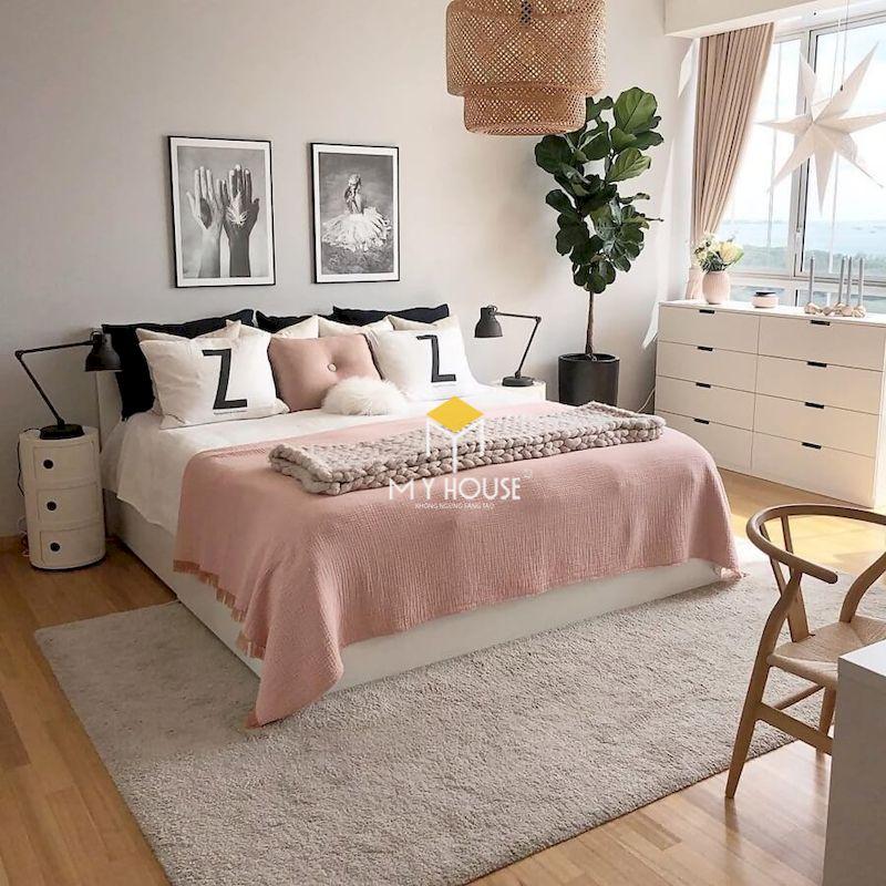 Phòng ngủ màu trắng phù hợp với mọi phong cách nội thất